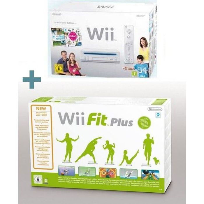 CONSOLE WII Wii FAMILY EDITION + Wii FIT PLUS