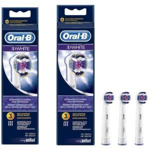 BROSSETTE PACK 2 x Oral-B 3DWhite 3 brossettes de rechange