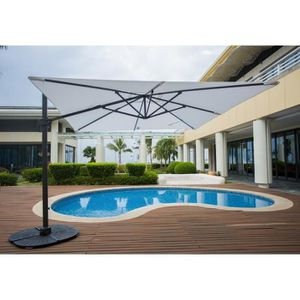 parasol rectangulaire achat vente parasol. Black Bedroom Furniture Sets. Home Design Ideas