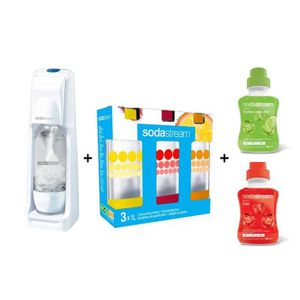 MACHINE À SODA MEGA PACK SODASTREAM : Machine Cool blanche + 3 bo