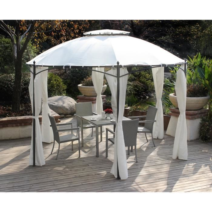 Tonnelle ronde for Table jardin geant casino