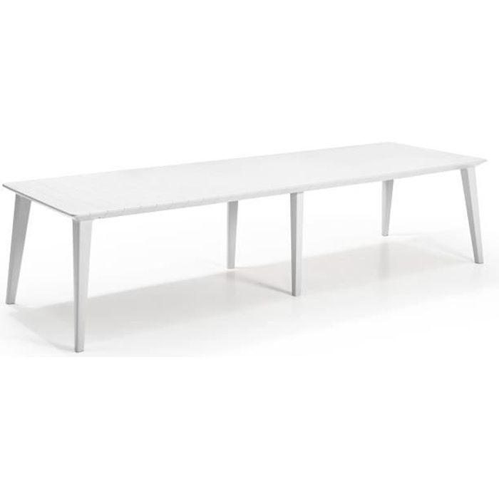 Table de jardin en plastique extensible
