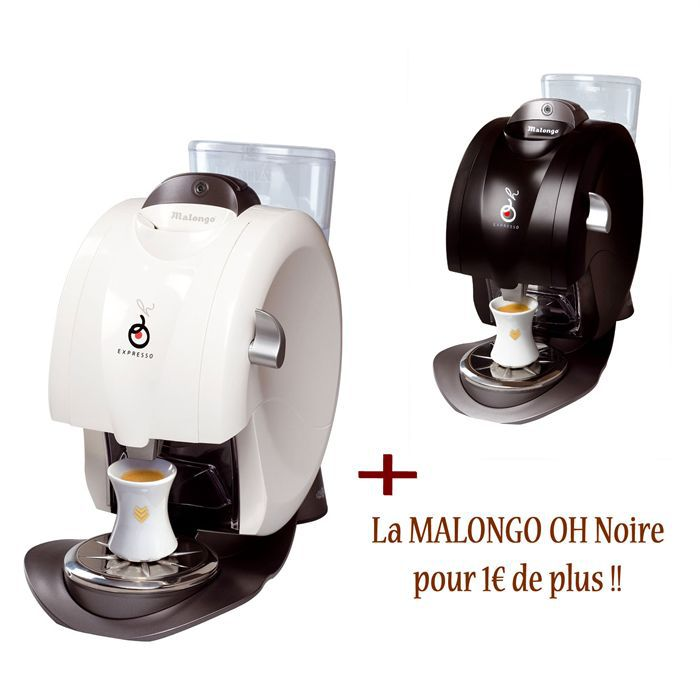 Malongo oh pack white black achat vente machine - Cafetiere expresso malongo ...