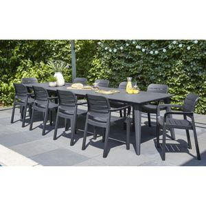 Table de jardin Plastique - résine - Achat / Vente Table de ...