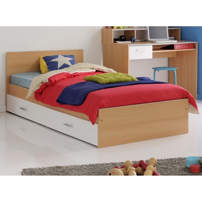 scoop lit enfant 90x190 cm tiroir d cor h tre achat. Black Bedroom Furniture Sets. Home Design Ideas