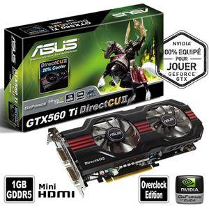 CARTE GRAPHIQUE INTERNE ASUS GeForce GTX 560 Ti DirectCuII 1Go