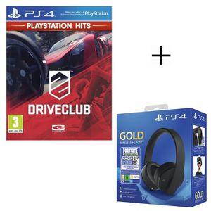 JEU PS4 Pack PlayStation : Casque Sans Fil Sony Gold + Vou
