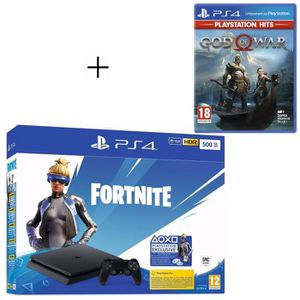 CONSOLE PS4 Pack PlayStation : PS4 Slim 500 Go Noire + God of