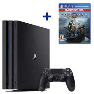 CONSOLE PS4 Console PS4 Pro 1To Noire/Jet Black + God Of War P