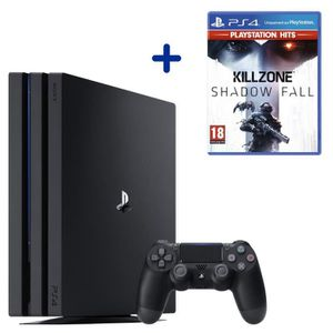 CONSOLE PS4 Console PS4 Pro 1To Noire/Jet Black + Killzone Sha