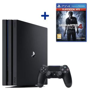 CONSOLE PS4 Console PS4 Pro 1To Noire/Jet Black + Uncharted 4: