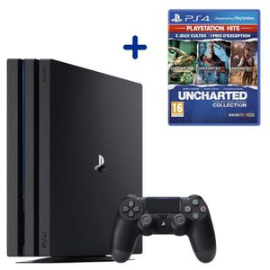 CONSOLE PS4 Console PS4 Pro 1To Noire/Jet Black + Uncharted: T