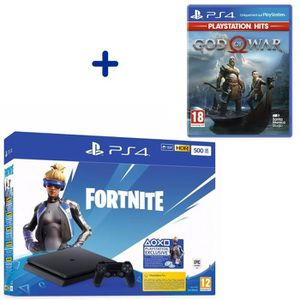 CONSOLE PS4 Console PS4 Slim 500Go Noire/Jet Black + God Of Wa