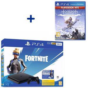 CONSOLE PS4 Console PS4 Slim 500Go Noire/Jet Black + Horizon Z