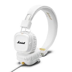 CASQUE - ÉCOUTEURS MARSHALL MAJOR II Casque audio avec micro blanc
