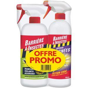 RÉPULSIF NUISIBLES JARDIN BARRIERE A INSECTES Offre Promo de 2 pulvérisateur