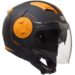 CASQUE MOTO SCOOTER CGM Casque Jet 129S Dixon - Homme - Noir et orange
