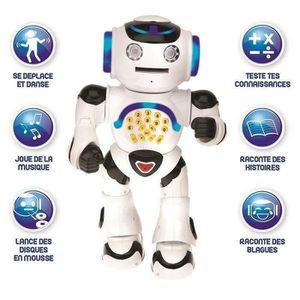 LEXIBOOK Powerman - un robot intelligent interactif pour Jouer Et Apprendre, Danse, Joue De La Musique, Quiz Educators, Lance des Disques