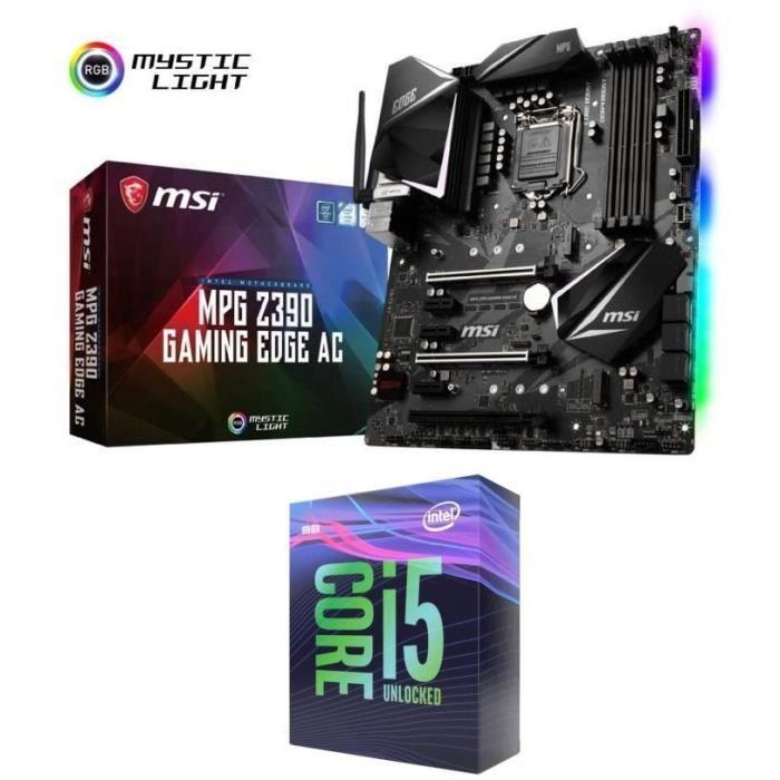 PROCESSEUR Kit évolution PC Processeur Intel Core i5 9600K +