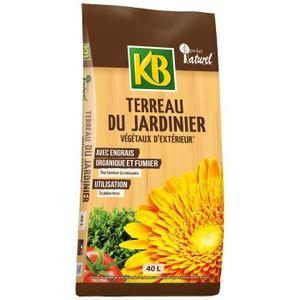 TERREAU - SABLE KB Terreau du Jardinier végétaux d'extérieur - 40