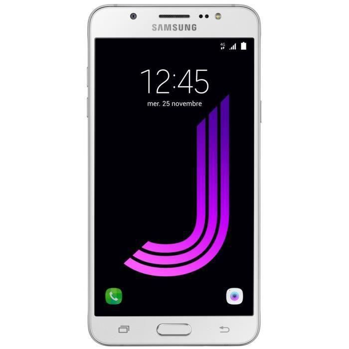 samsung galaxy j7 2016 blanc achat smartphone pas cher. Black Bedroom Furniture Sets. Home Design Ideas