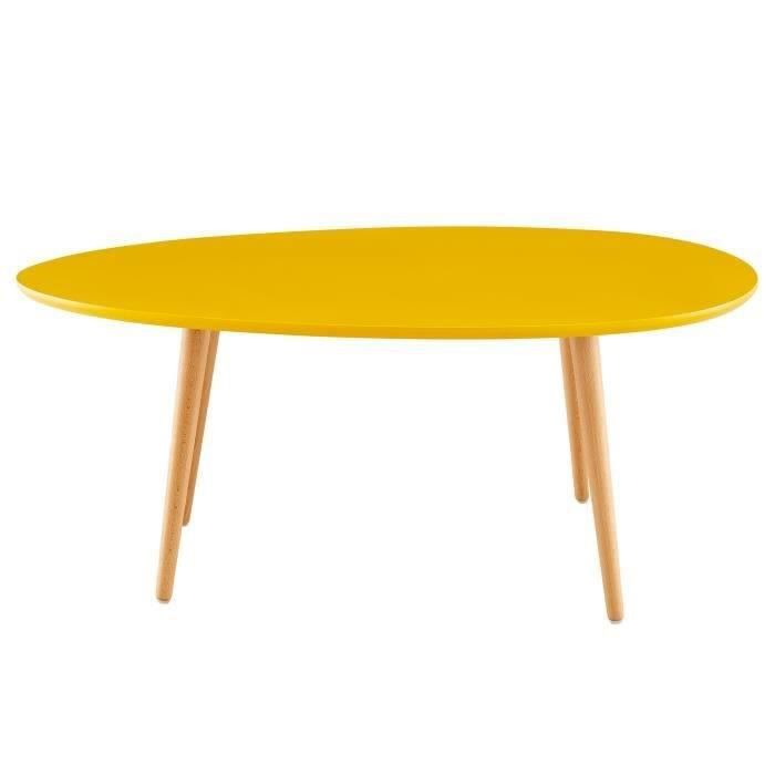Stunning table de salon jaune pictures for Table basse scandinave laquee