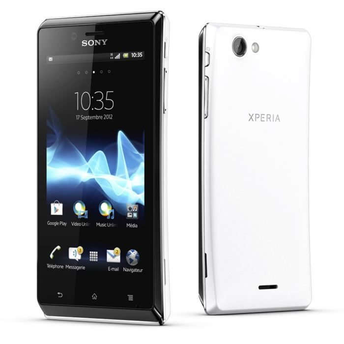 sony xperia j blanc smartphone prix pas cher cdiscount. Black Bedroom Furniture Sets. Home Design Ideas