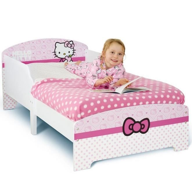 hello kitty lit enfant 70 x 140 cm achat vente structure de lit cdiscount. Black Bedroom Furniture Sets. Home Design Ideas