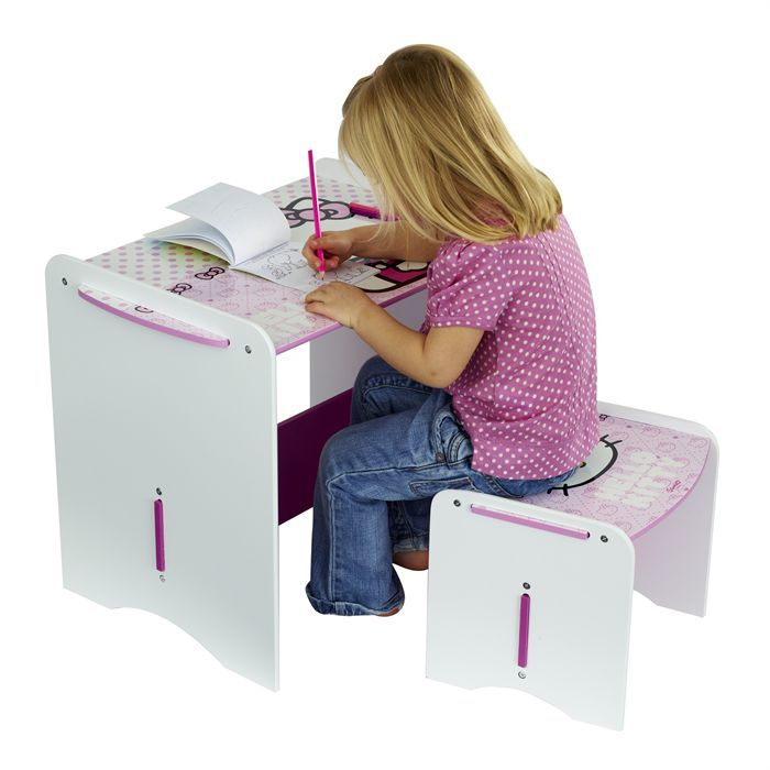 mon premier bureau enfant et tabouret hello kitty achat. Black Bedroom Furniture Sets. Home Design Ideas