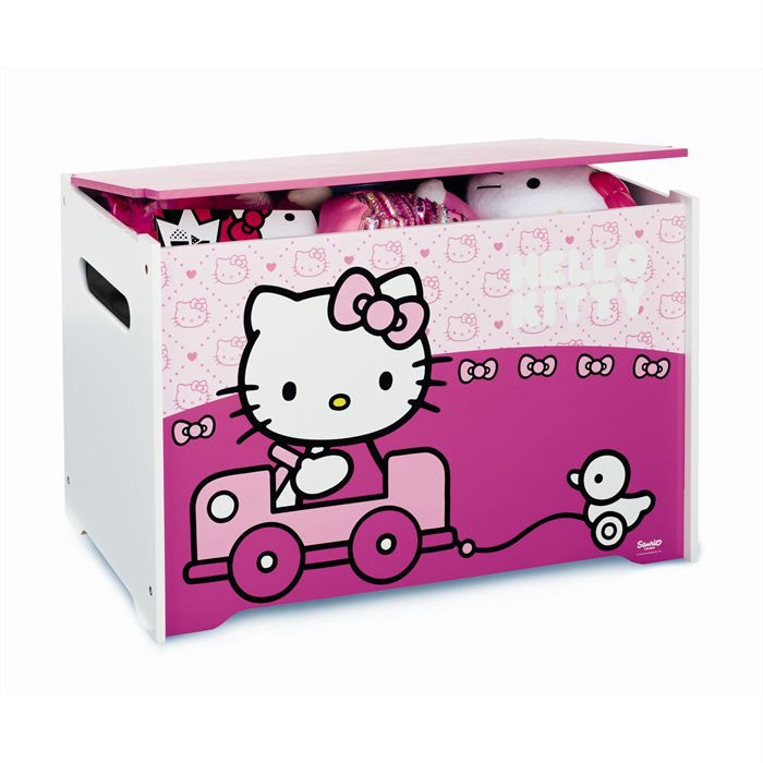 hello kitty coffre a jouets achat vente coffre. Black Bedroom Furniture Sets. Home Design Ideas