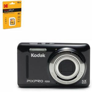 PACK APPAREIL COMPACT KODAK - FZ53-BK - Appareil photo compact - Noir +