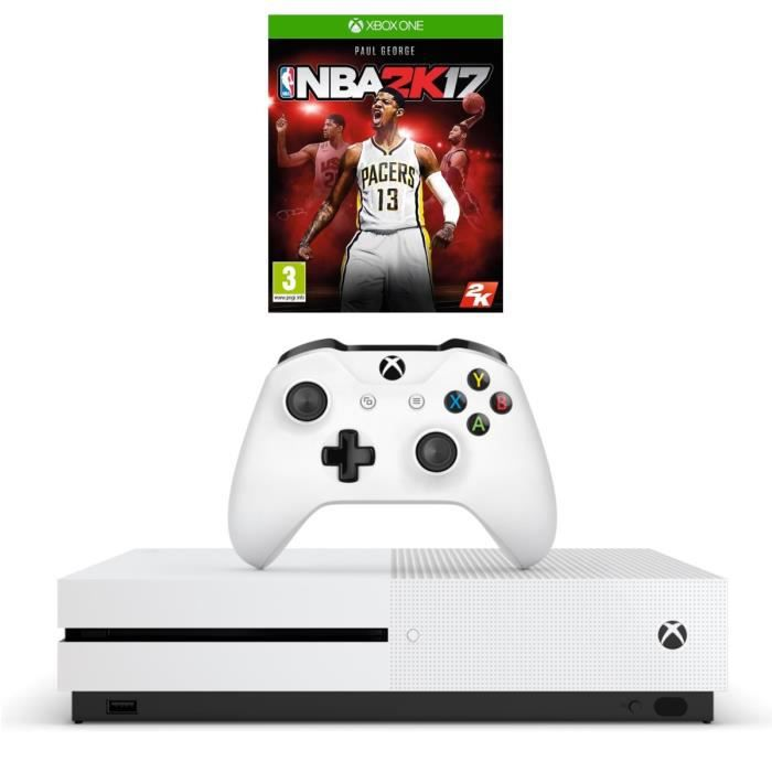 xbox one s 500 go nba 2k17 univers xbox one gamingpascher. Black Bedroom Furniture Sets. Home Design Ideas