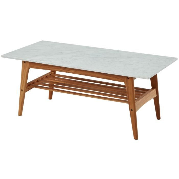 Montauk table basse scandinave en ch ne naturel et plateau for Table basse chene scandinave
