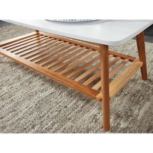 Table basse double plateau achat vente table basse for Table basse scandinave laque