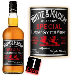 WHISKY BOURBON SCOTCH Whyte & Mackay 1 Litre 43° whisky blend