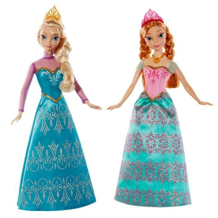 frozen la reine des neiges coffret duo anna elsa achat vente poup e les soldes sur. Black Bedroom Furniture Sets. Home Design Ideas