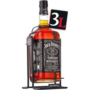 WHISKY BOURBON SCOTCH Jack Daniel's N°7  double Magnum 3L balancelle