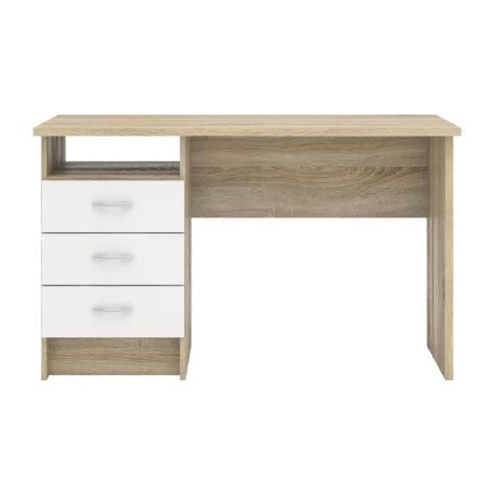 function bureau contemporain ch ne et blanc l 120 1 cm achat vente bureau function plus. Black Bedroom Furniture Sets. Home Design Ideas