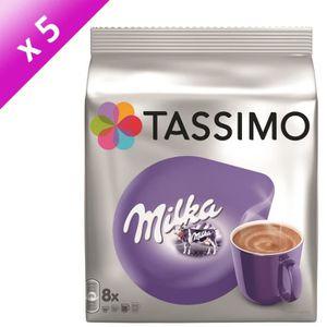 CAFÉ TASSIMO Café Chocolat Milka - 5 paquets de 8 doset