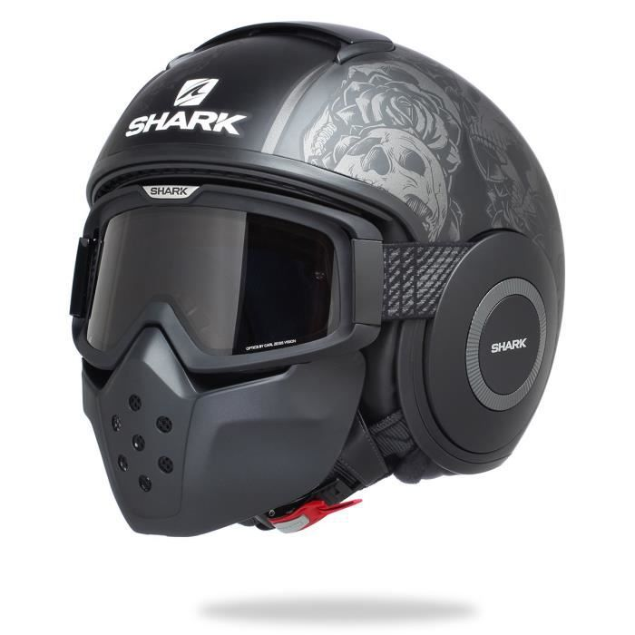 shark casque moto drak sanctus noir gris achat vente casque moto scooter shark casque moto. Black Bedroom Furniture Sets. Home Design Ideas