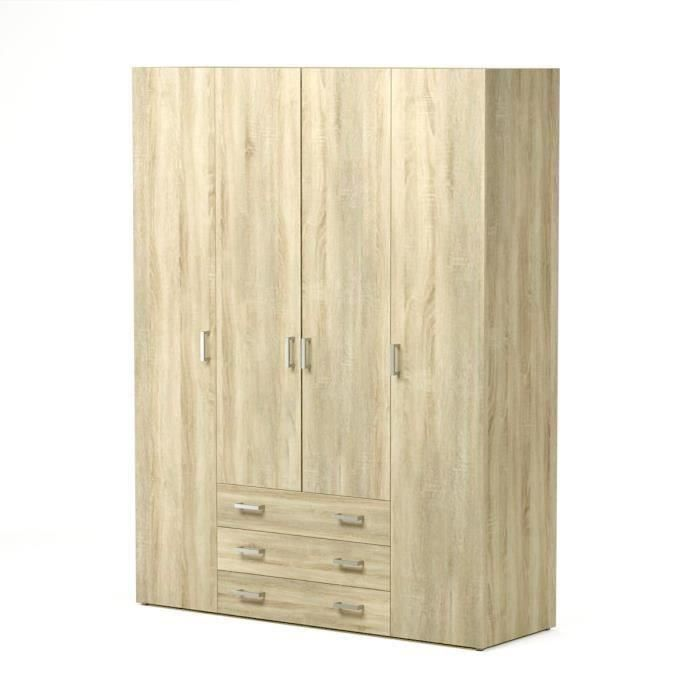 space armoire chambre adulte style contemporain ch ne. Black Bedroom Furniture Sets. Home Design Ideas
