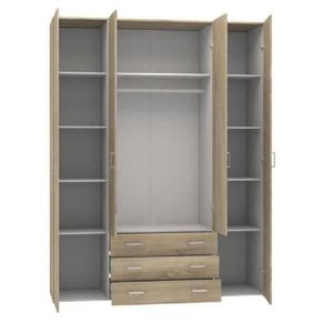 armoire achat vente armoire pas cher black friday le 24 11 cdiscount. Black Bedroom Furniture Sets. Home Design Ideas