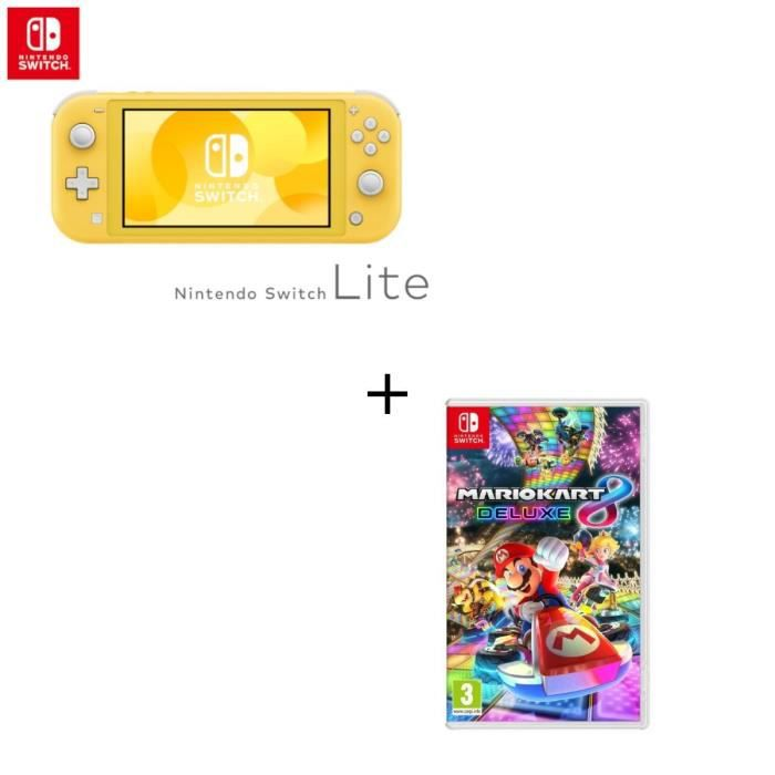 Console Switch Lite Jaune Jeu Switch Mario Kart 8 Deluxe