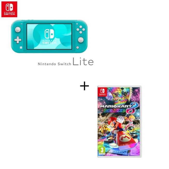 Console Switch Lite Turquoise Jeu Switch Mario Kart 8 Deluxe