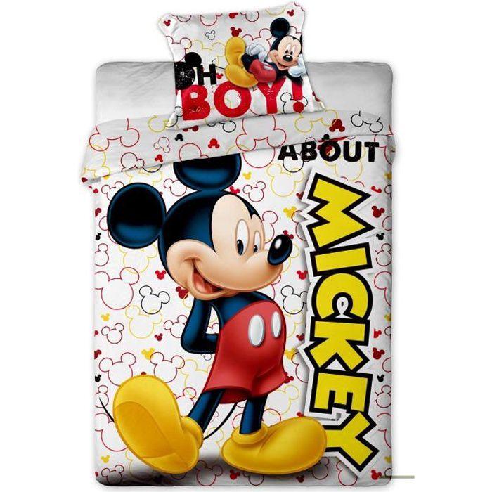 HOUSSE DE COUETTE ET TAIES DISNEY Housse de Couette Mickey - 1 place 140 x 20