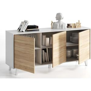 BUFFET - BAHUT  ZAIKEN PLUS Buffet scandinave blanc brillant et dé