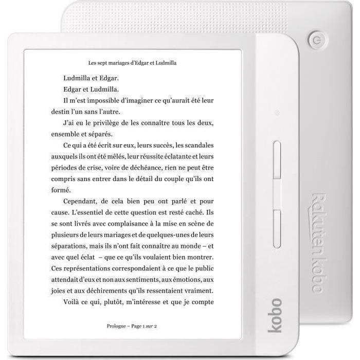 """EBOOK - LISEUSE KOBO Liseuse Libra H2O - 7"""" - 300ppp - ComfortLigh"""