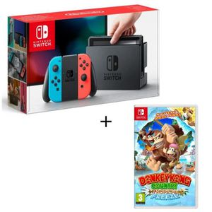 SORTIE CONSOLE NINTENDO SWITCH Pack Nintendo Switch Néon + Donkey Kong Tropical F