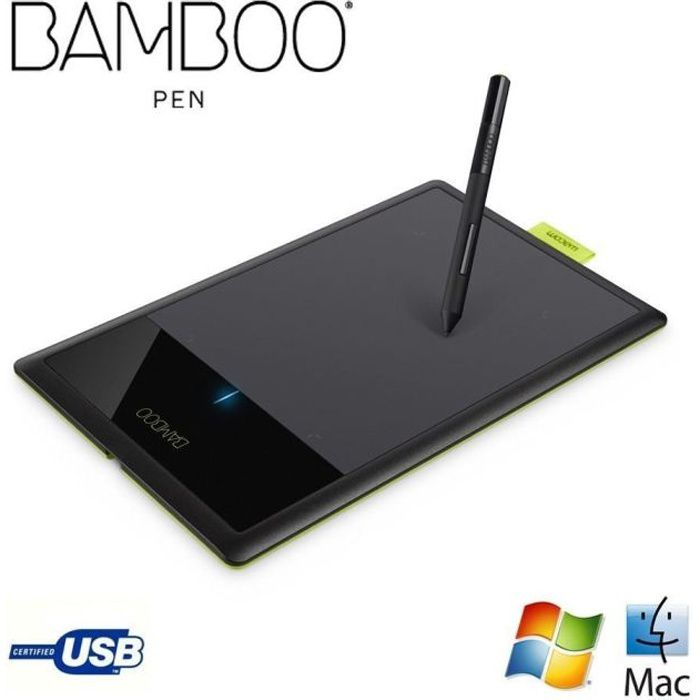 informatique clavier souris webcam wacom tablette graphique bamboo pen reconditionnee f  ctlkfr