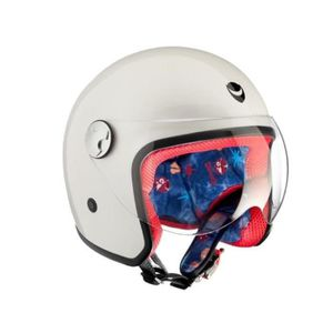 CASQUE MOTO SCOOTER HELMO Piccolapeste Casque Kid Moto Jet Blanc